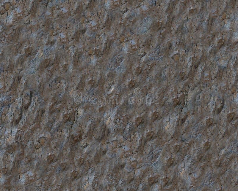 Espacio en blanco de la textura de la roca de la piedra caliza del fondo del marrón oscuro stock de ilustración