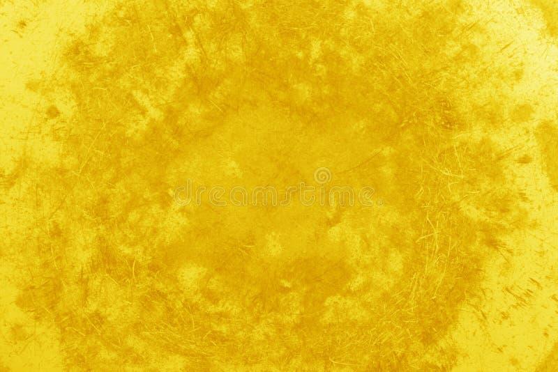 Espacio en blanco de la textura del fondo del oro para el diseño imágenes de archivo libres de regalías