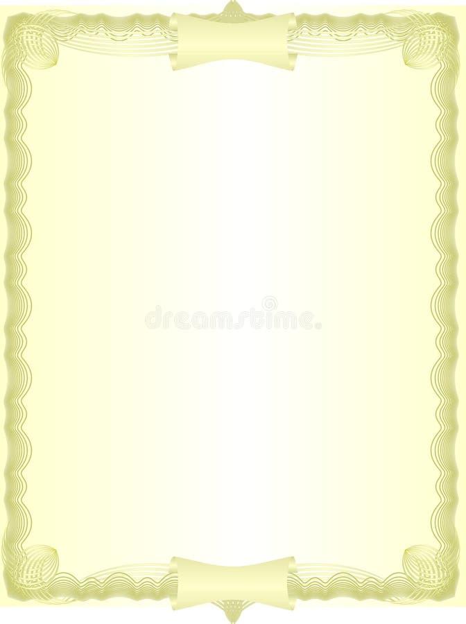 Espacio en blanco de oro. ilustración del vector