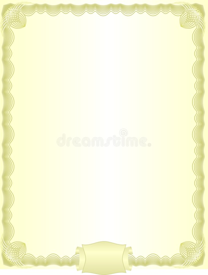 Espacio en blanco de oro ilustración del vector