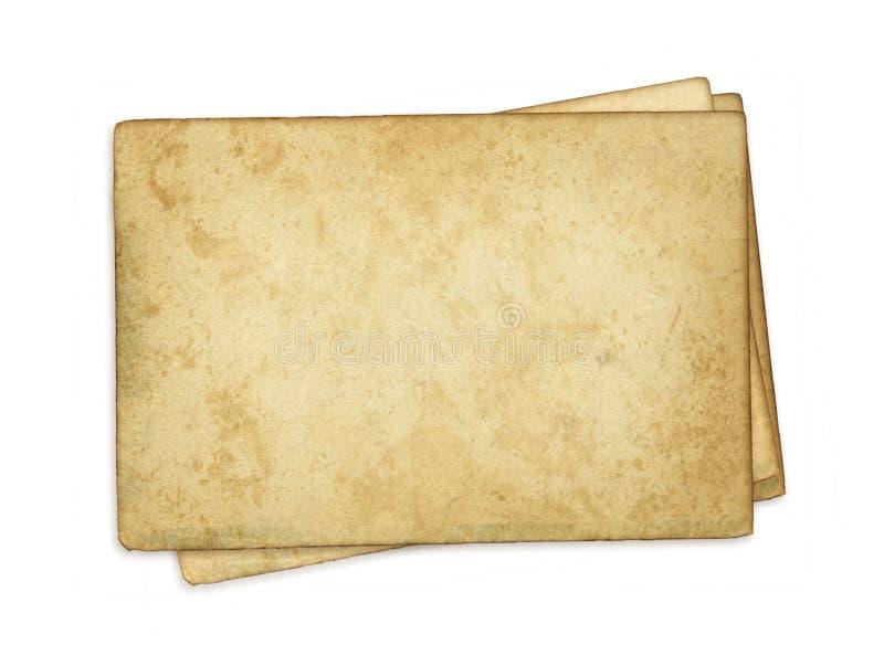 espacio en blanco de papel de la vendimia imágenes de archivo libres de regalías
