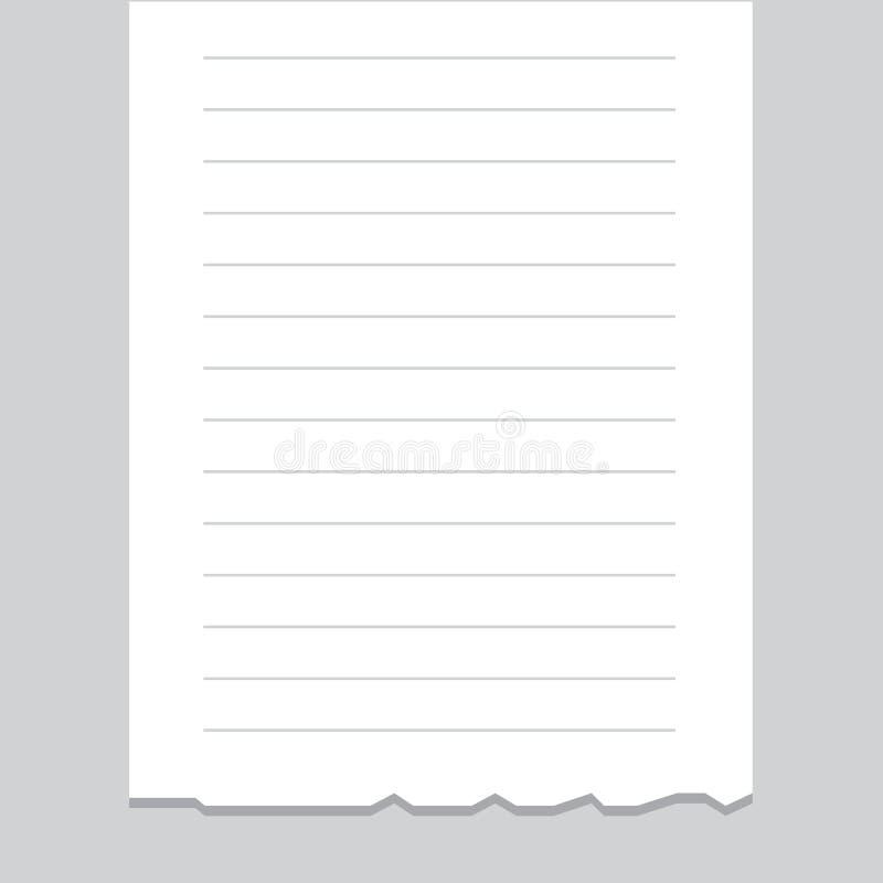 Espacio en blanco del listado del recibo ilustraci n del - Espacio en blanco ...