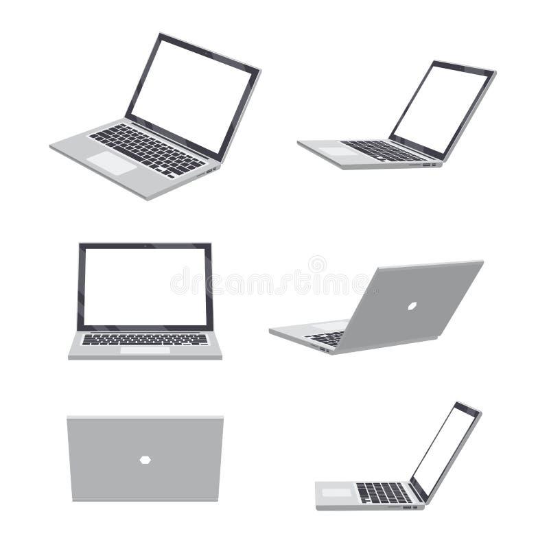 espacio en blanco del ordenador portátil 3D libre illustration
