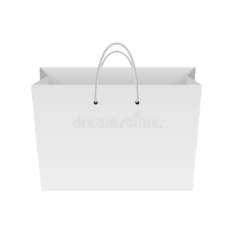 Espacio en blanco del panier de papel Mofa para arriba para su diseño Vector ilustración del vector