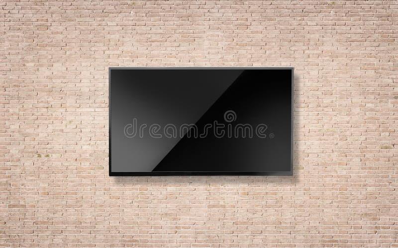 Espacio en blanco negro de la pantalla de la televisi?n del LED TV imágenes de archivo libres de regalías