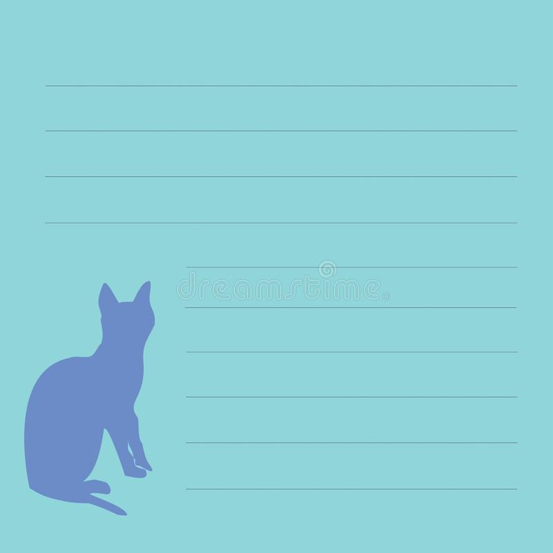 Espacio en blanco para los expedientes con el gato imágenes de archivo libres de regalías