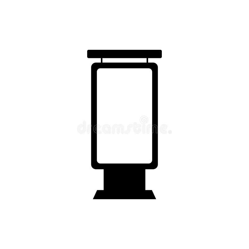 espacio en blanco que hace publicidad del icono ligero del tablero Elemento del icono de la cartelera de publicidad Icono superio libre illustration