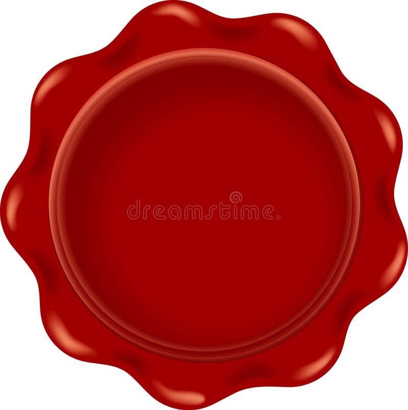 Espacio en blanco rojo de la cera ilustración del vector
