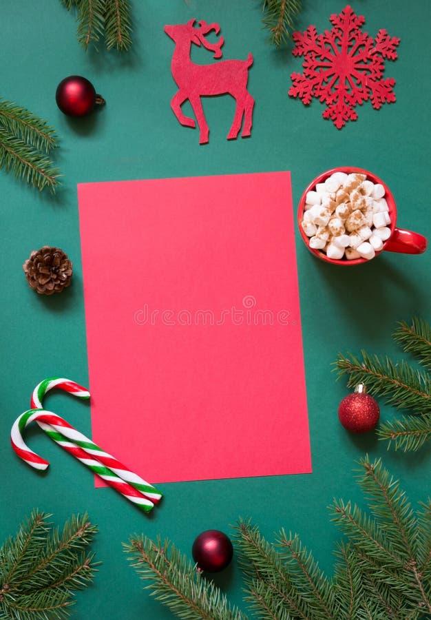 Espacio En Blanco Rojo De La Navidad Para La Letra A Papá Noel O Sus ...