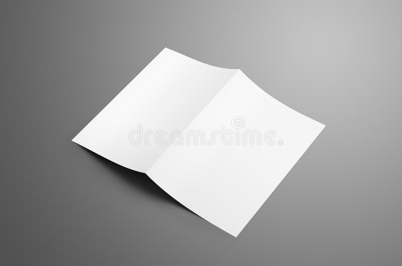 Espacio en blanco universal uno A4, folleto del BI-doblez A5 con las sombras suaves fotos de archivo
