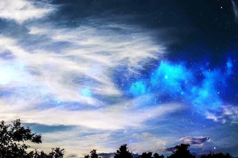 Espacio en el cielo fotografía de archivo libre de regalías