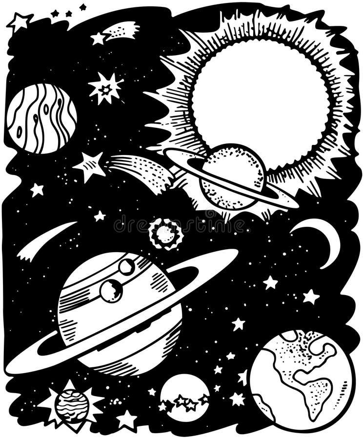 Espacio exterior stock de ilustración