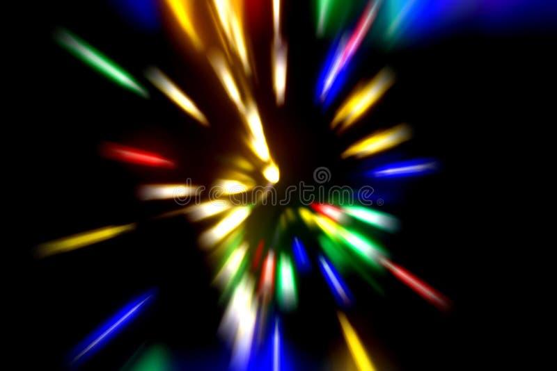 Espacio exterior abstracto de la ciencia ficci?n y fondo del concepto del viaje del tiempo Exposici?n larga imagen de archivo libre de regalías