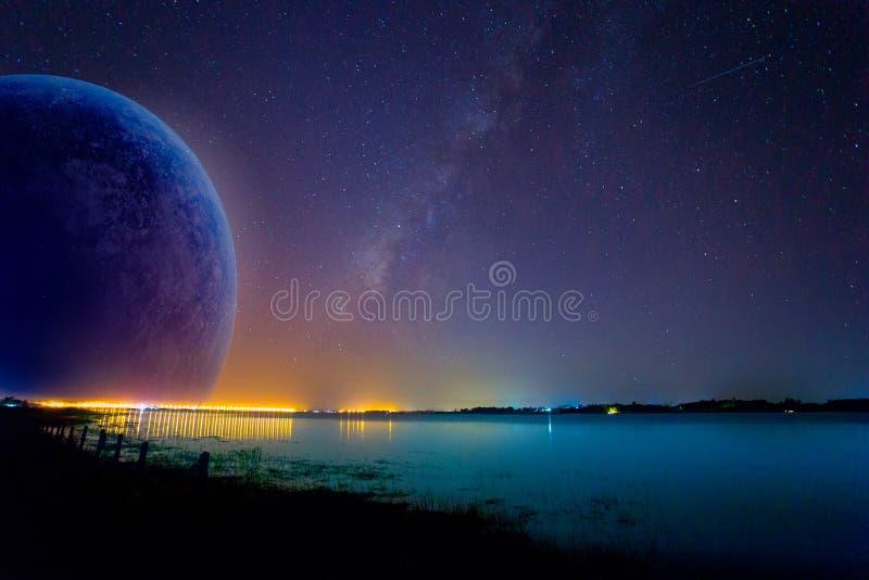 Espacio exterior, estrella - espacio, cielo, galaxia, noche imagen de archivo libre de regalías