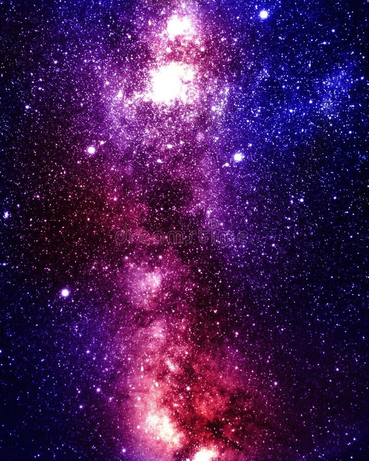 Espacio exterior profundo ilustración del vector