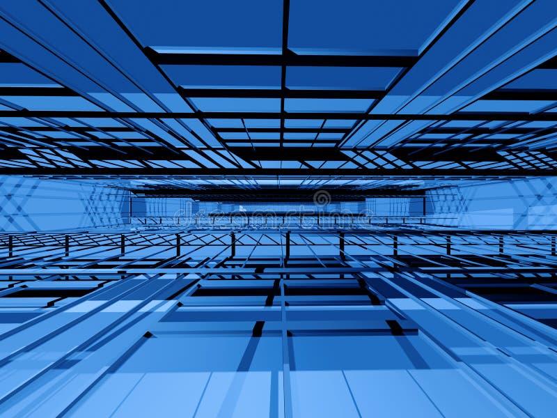 Espacio interior de alta tecnología stock de ilustración