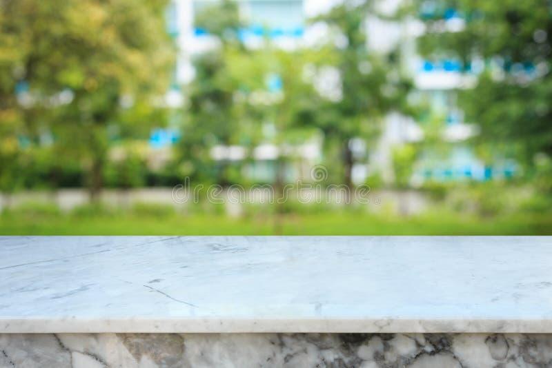 Espacio libre vacío del contador o de la tabla de piedra de mármol superior en empañado fotografía de archivo