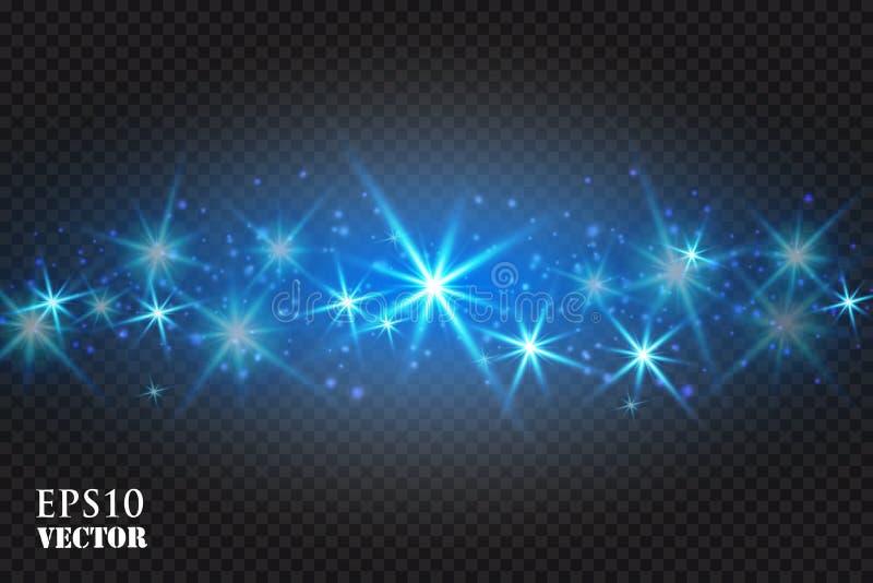 Espacio mágico Fondo abstracto del universo Fondo azul y estrellas brillantes Ilustración del vector libre illustration