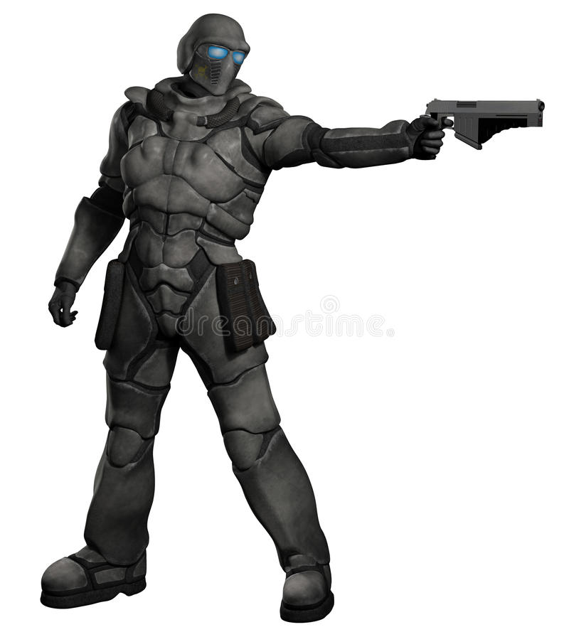 Espacio Marine Trooper con la pistola libre illustration