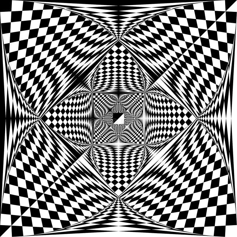 Espacio negativo ajustado Arabesque del triángulo diagonal de la bandera del final en fondo transparente libre illustration