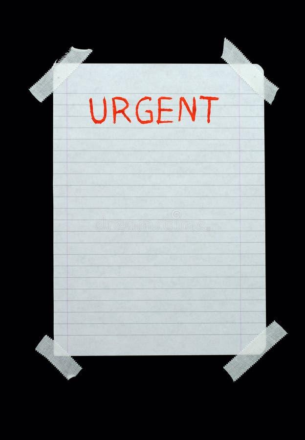 Espacio para las notas urgentes fotografía de archivo libre de regalías