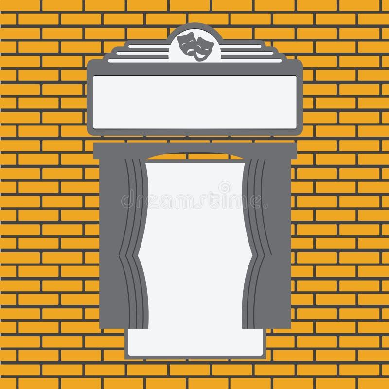 Espacio para los carteles ilustración del vector