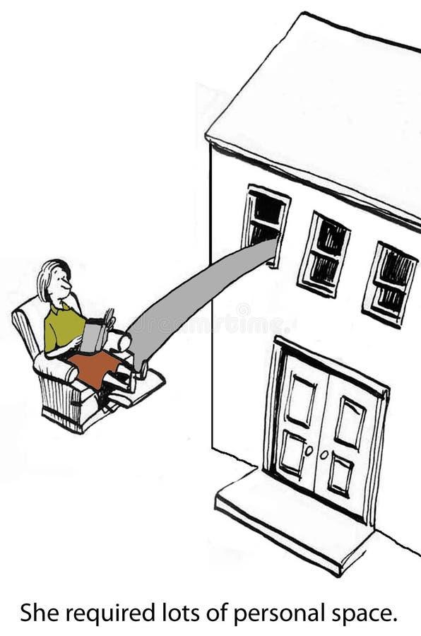 Espacio personal libre illustration