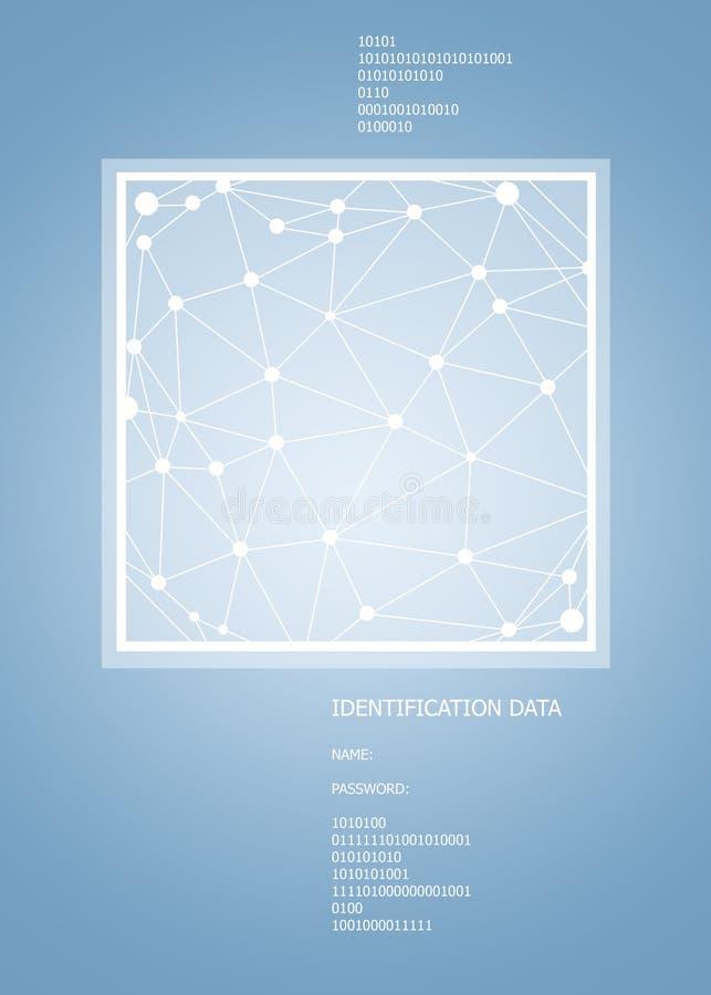 Espacio poligonal abstracto en fondo azul simple libre illustration