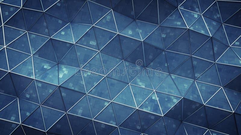 Espacio poligonal azul con el ejemplo de la representación de la superficie 3D de la tecnología libre illustration
