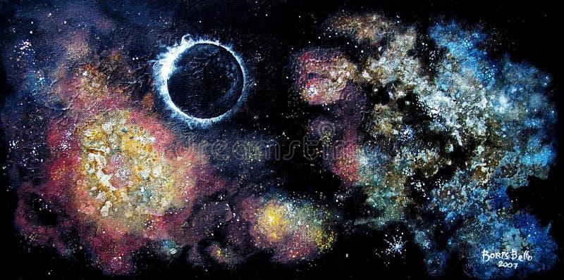 Espacio profundo 1 stock de ilustración