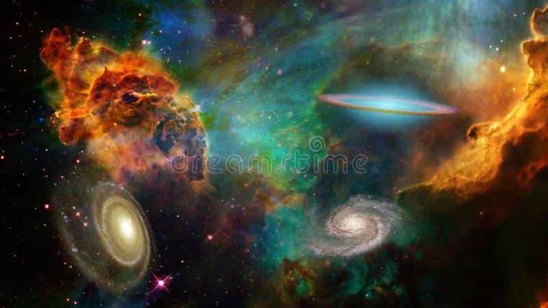 Espacio profundo stock de ilustración