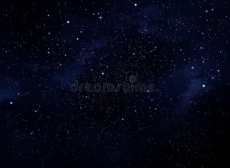 Espacio profundo Cielo nocturno, fondo azul abstracto libre illustration