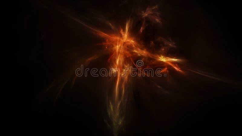 Espacio profundo místico oscuro ilustración del vector
