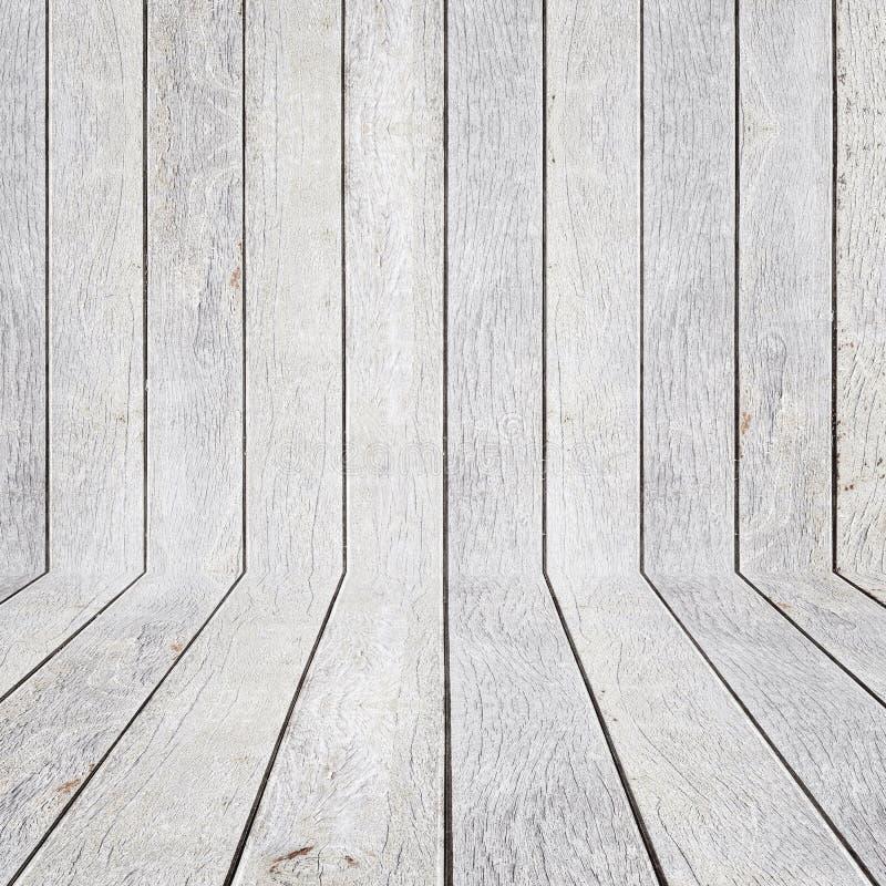 Espacio vacío de madera del pino Pared de la perspectiva Para la exhibición o el montag imagen de archivo libre de regalías