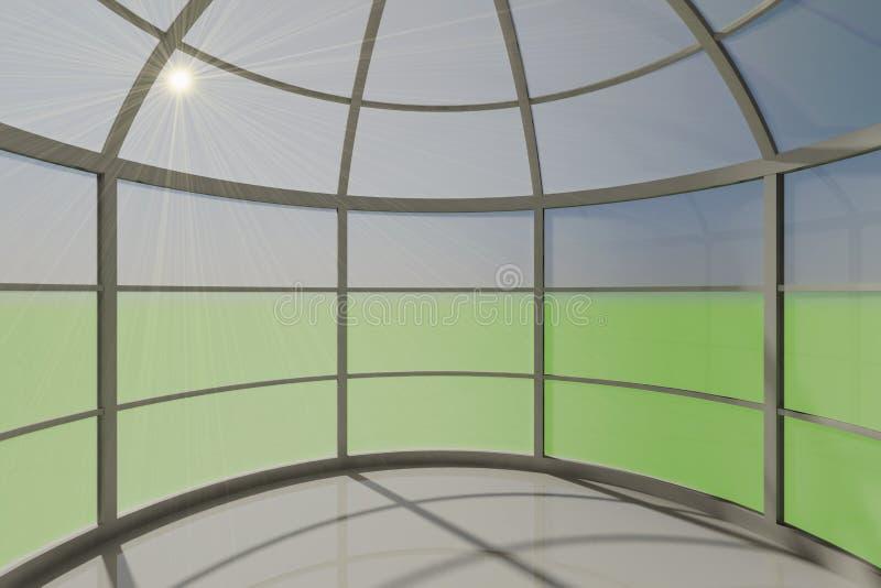 Espacio vacío interior redondo foto de archivo libre de regalías