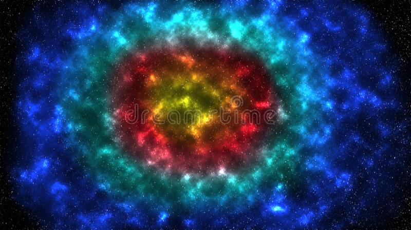 Espacio y el cielo estrellado stock de ilustración