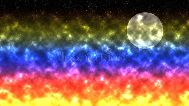 Espacio y el cielo estrellado ilustración del vector
