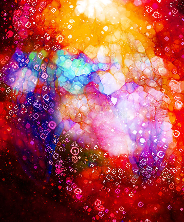 Espacio y estrellas cósmicas, fondo abstracto cósmico y efecto del vidrio Copie el espacio libre illustration