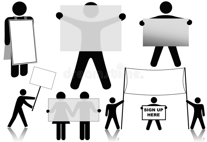 Espacios del fondo de la muestra del asimiento de la gente del símbolo libre illustration