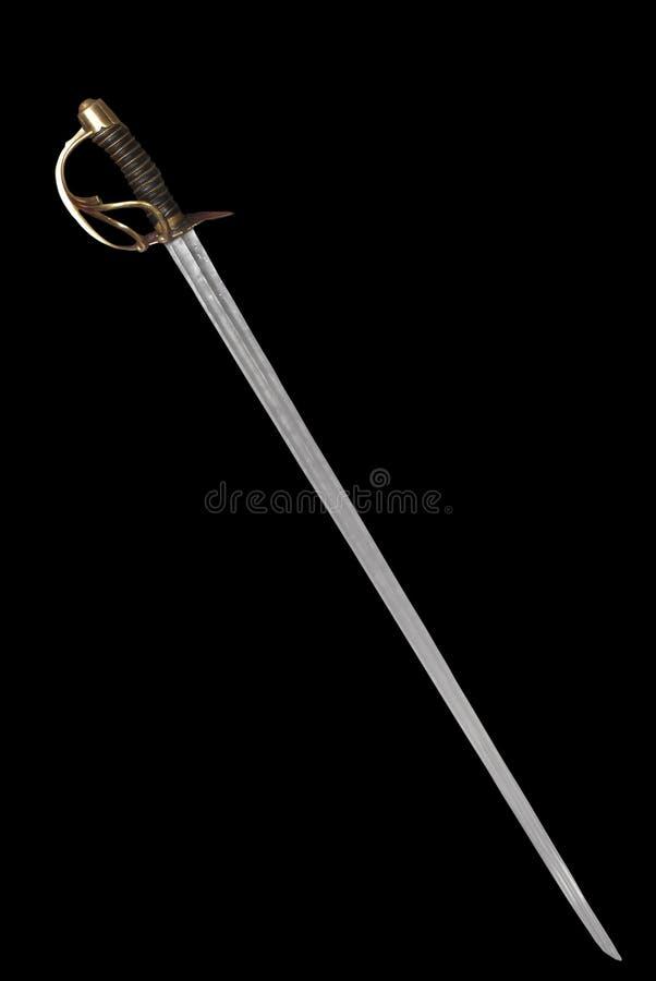 Espadón (espada) del oficial ruso de la marina. fotografía de archivo