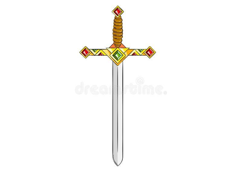 Espada stock de ilustración