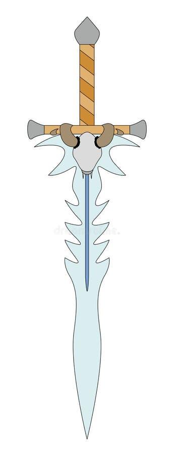 Espada ilustração stock