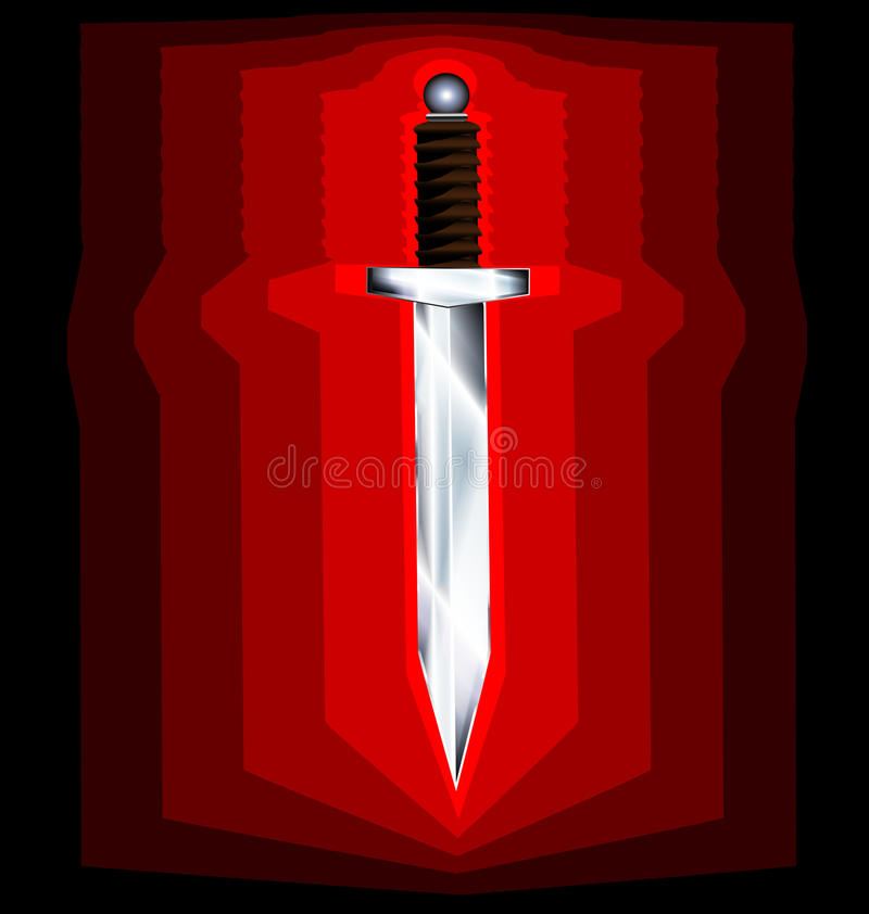 Espada abstrata ilustração do vetor