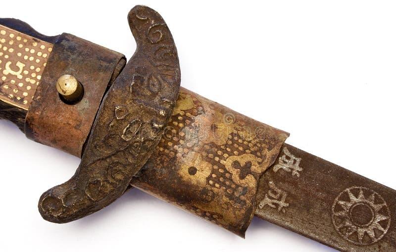 Espada antiga do samurai imagem de stock
