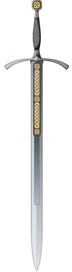 Espada céltica stock de ilustración