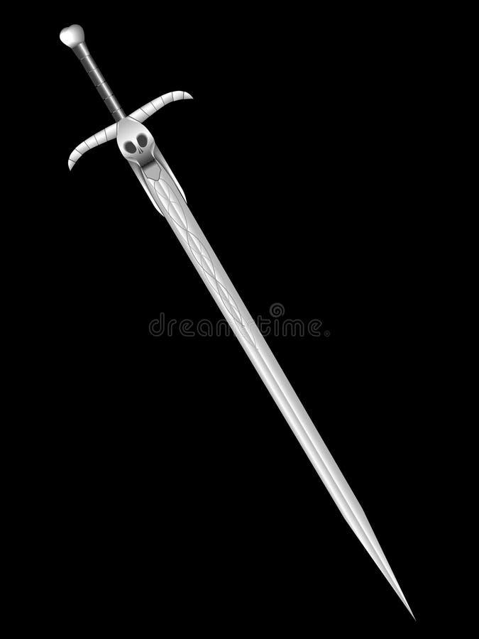 Espada de la muerte stock de ilustración