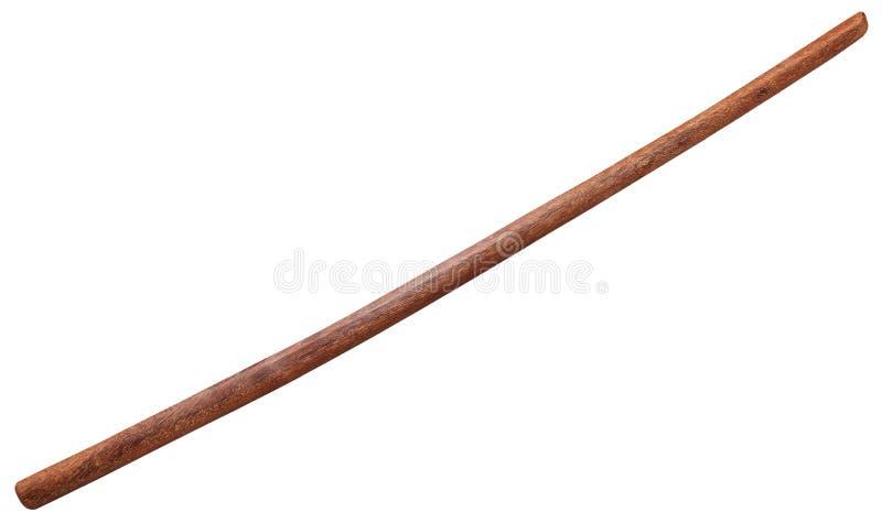 Espada de madera japonesa de Bokken aislada fotos de archivo libres de regalías
