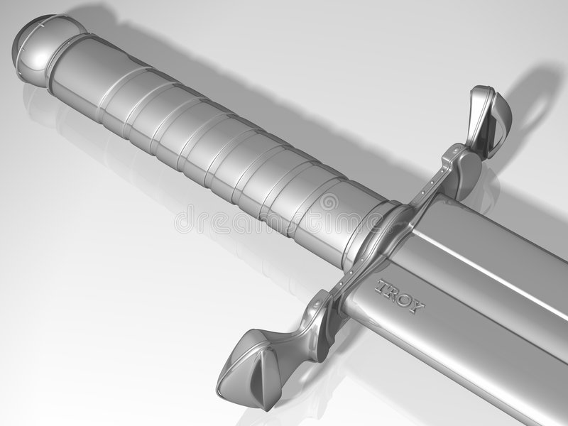 Espada de plata fotos de archivo