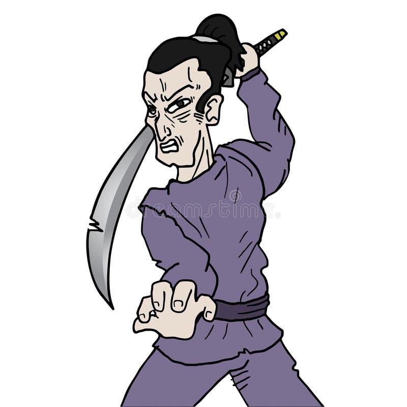Espada do samurai ilustração stock