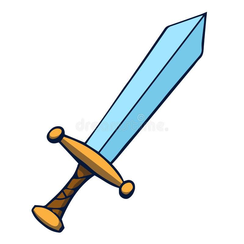 Espada dos desenhos animados. Ilustração do vetor ilustração stock
